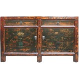 Original Distressed Painted Sideboard