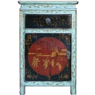 Tibetan Painted Bedside Table