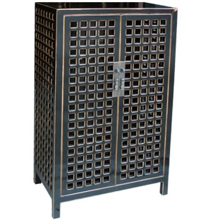 Black Lacquered Shoes Cabinet
