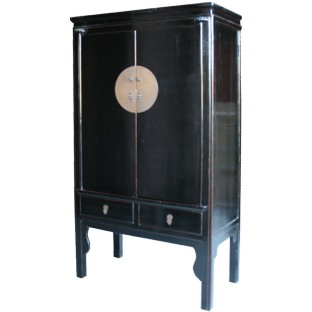 Black Chinese Wedding Cabinet