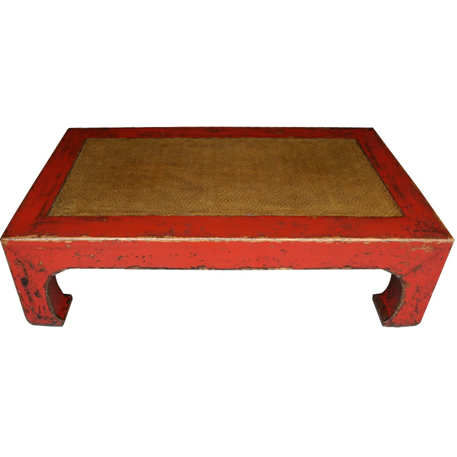 Red lacquered rattan inlay oriental coffee table 37 157 for Oriental furniture australia