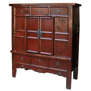 Large Original Wide Cabinet w/ Patina