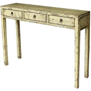 Distressed Creamed Console Table/Hall Table