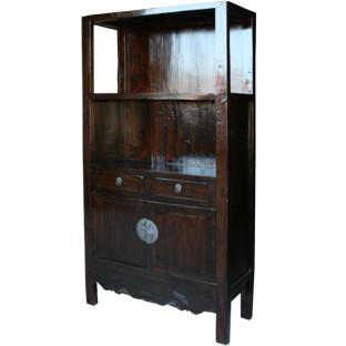 Original Dark Brown Display Cabinet/Book Case