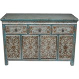 Original Painted Tibetan Sideboard Cabinet