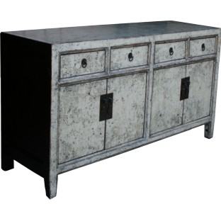 Grey Four Draw Two Door Sideboard/Buffet