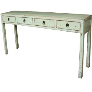 Original Green 4-Drawer Hallway Table