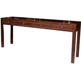 Original Long Brown 4-Drawer Hallway Table