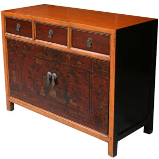 Mongolian Painted Sideboard