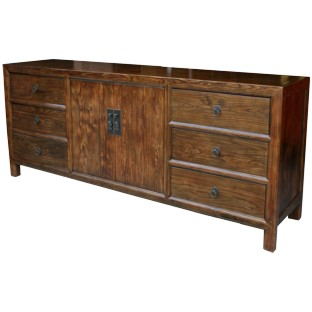 Large Natural Elm Sideboard/Buffet