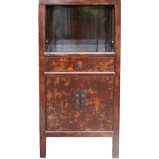 Red Medium Display Cabinet w/Patina