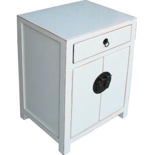 White/ Light Grey Bedside Table