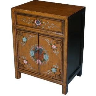 Original Tibetan Painted Bedside Table