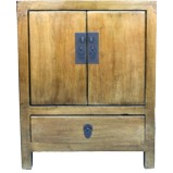 Gold Leaf Coated Bedside Table Cabinet