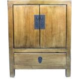 Gold Leaf Coated Bedside Table Cabinet