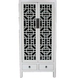 Chinese White Kitchen Cabinet Lattice Door