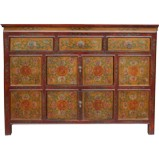 Original Painted Tibetan Sideboard/Cabinet