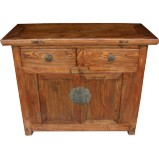 Original Chinese Elm Cabinet w/ Original Hardware