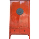 Large Ming Style Tapered Cabinet