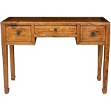 Original Brown Three Drawers Hall Table