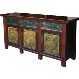 Three-Door Three-Drawer Painted Sideboard