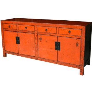 Large Original Orange Patina Sideboard