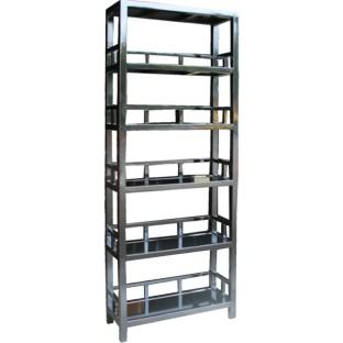 Mandarin Bookcase with Fretwork Shelves