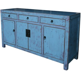 Blue/Grey Lacquered Sideboard Buffet