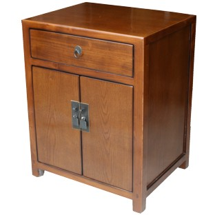 Brown Lacquer Bedside Table