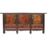 Large Mongolian Painted Sideboard