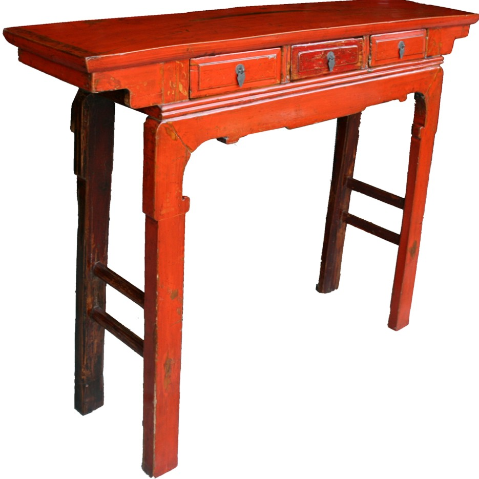 Foyer Table Red : Chinese console