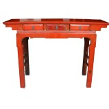 Original Red Console Hall Table