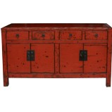 Large Original Red Patina Sideboard
