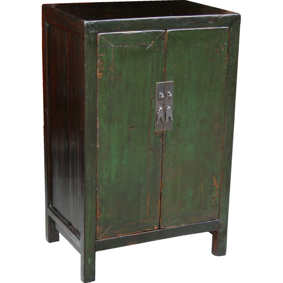 Antique green cabinets