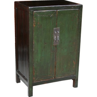 Chinese Antique Green Cabinet
