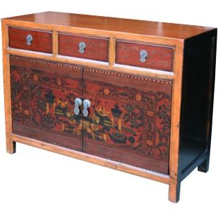 Mongolian Painted Sideboard