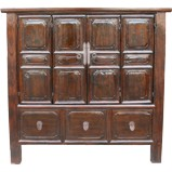 Original Chinese Dark Brown Cabinet