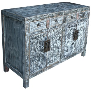 Distressed Grey Sideboard