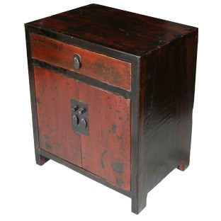 Original Red Bedside Table w/Patina