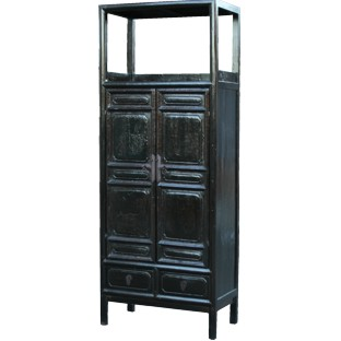 Original Old Black Display Cabinet/Book Case
