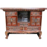 Chinese Bed End Antique Carvings High