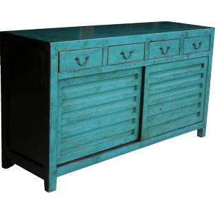 Blue Japanese Style Mizuya Sideboard Buffet