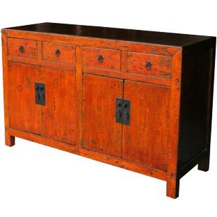 Original Orange Red Patina Sideboard