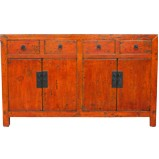 Original Orange Red Patina Sideboard