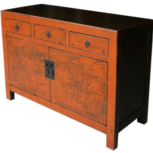 Original Orange Patina Sideboard