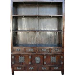 Original Large Dark Brown Book Case/Display Cabinet
