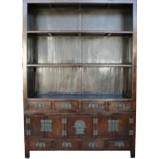 Original Large Dark Brown Book Case/Display Cabinet