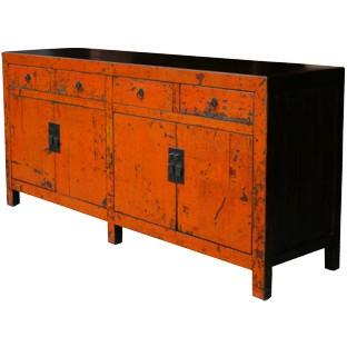 Large Original Orange Patina Sideboard