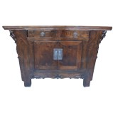 Original Chinese Elm Cabinet w/Carvings