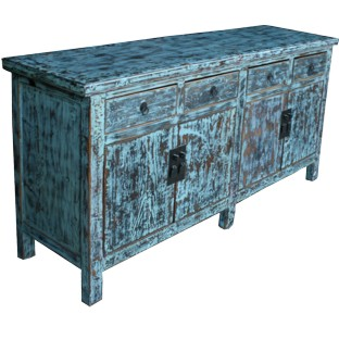 Light Blue Distressed Sideboard/Buffet